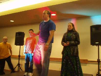 Ryan volunteered to help out the Clown Box folks with their improv comedy skit.