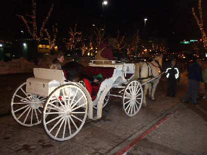 After fireworks and bagpipes, some people hired horse and carriage to take them to their cars in Old Town.  Happy new year!