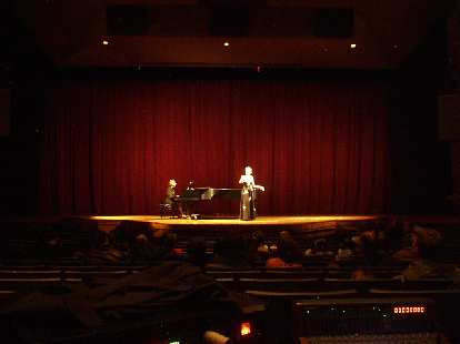 We then saw a 30-minute demonstration put on by Opera Fort Collins in the Lincoln Center.  The opera singer was really good.