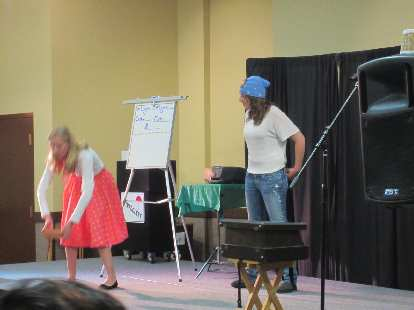 Kelly got to be part of the Presto Digitators Magic Show!