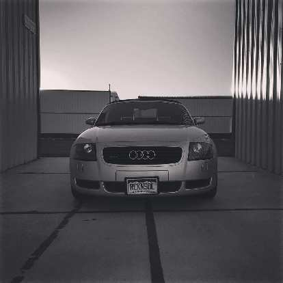 My silver Audi TT Roadster Quattro looked good among the airplane hangars.