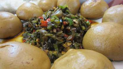 Vegetable stuffing to eat with steamed buns.