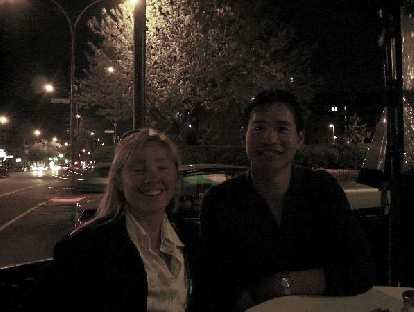 """People in Montreal love to dine outside,"" said Sylvie in French.  And so we had drinks on the terrace..."