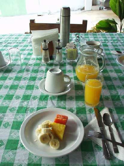 Every morning we had breakfast at El Oasis, our hotel.  Breakfast always started out with this fruit dish.