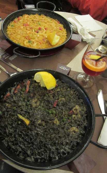 Paella in Barcelona.