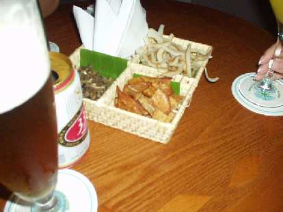 Fried banana and coconut in Sky Lounge in Nha Trang.