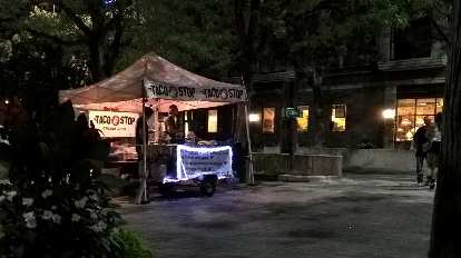 Taco stop food stand, Old Town Fort Collins