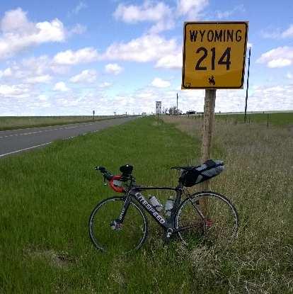 black Litespeed Archon C2 with large saddlebag in Wyoming