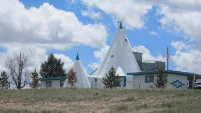 teepee house in Pine Bluffs, Wyoming