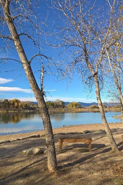 Richards Lake in fall.