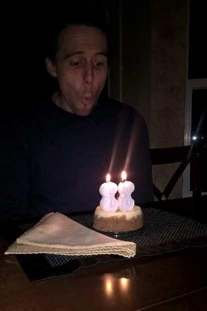 celebrating Alberto's birthday