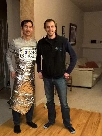 Felix Wong dressed as a burrito, Alberto
