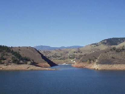 The Horsetooth Reservoir.