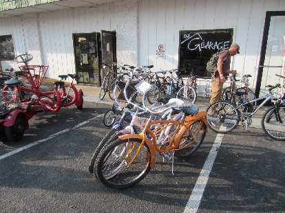 Cruisers outside Gearage.