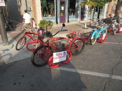 New Belgium cruiser in bike parking.