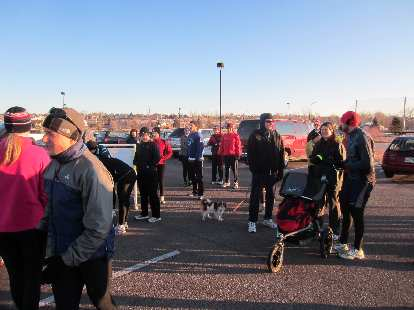 Forty-two runners showed up for the Fort Collins Running Club's first Tortoise & Hare race of 2012.