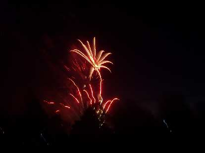 Fireworks at City Park.