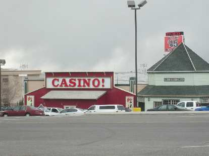 West Wendover is in Nevada, just beyond the state line with Utah.  Hence there are lots of casinos here too.