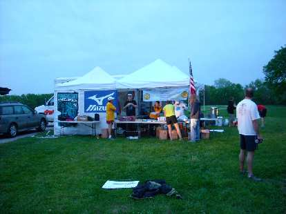 The starting area of the Free State Trail Races in Lawrence, KS.