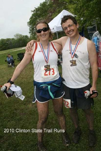 Celeste and Scott at the finish.