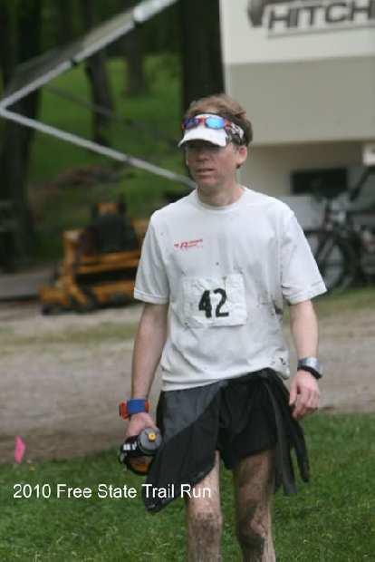 Dan finishing the 40-mile race.