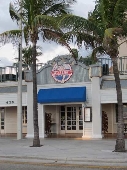 There's a Bubba Gump factory here, just like in Monterey, CA.