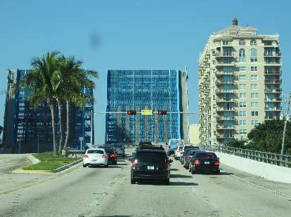 There are quite a few drawbridges in Fort Lauderdale due to the canals.