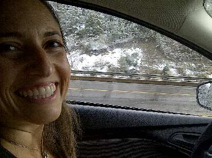 While I slept, Raquel (and Tori) did an amazing job driving through snow and storms!