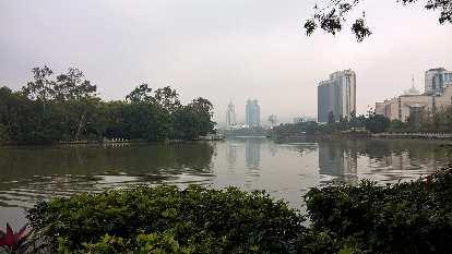 Zuohai Park in Fuzhou, China.