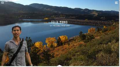 The home page of felixwong.com from late-2014 to July 2017.