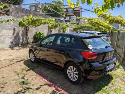 The Seat Ibiza I rented upon arriving in Galicia, as shown in Cambados.