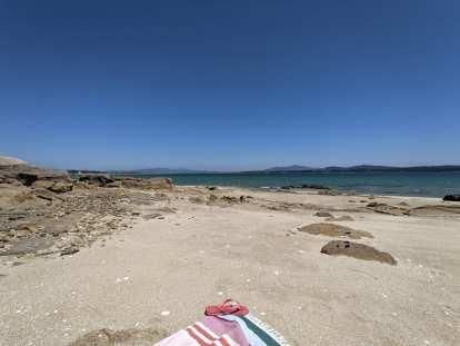 A beach on the southeast side of Isla de Arousa.