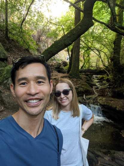 Felix and Andrea on the Ruta da Pedra e da Auga.