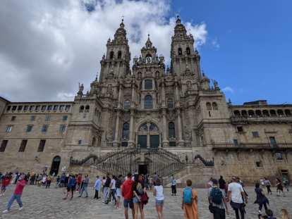 The Cathedral of Santiago de Compostela.