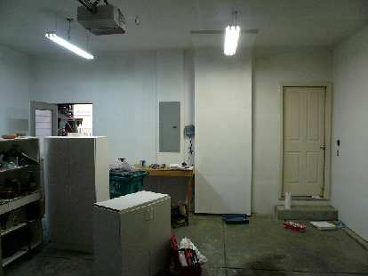 [Intermediate stage] The garage all primed and ready for topcoats.