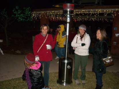 Leah and Faith came over to keep their heads warm.