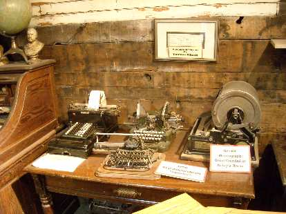 Collection of typewriters.