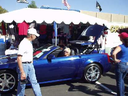 There were modern vehicles too, including this Cadillac XLR in which this lady was giving a demo of its power roof.
