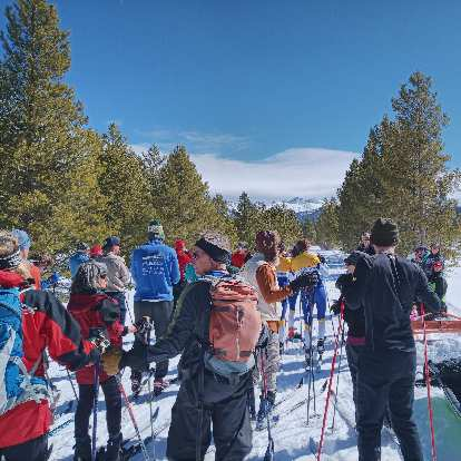 Racers waiting for the start of the Gould Ski Scramble 10k.