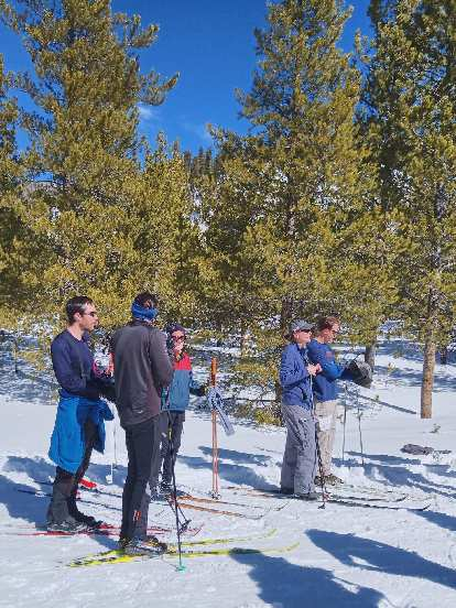 My friend Ryan, at the left, waiting for the start of the Gould Ski Scramble, Classic Ski 10k division.