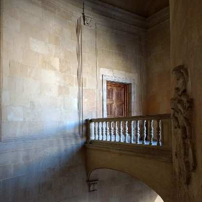 Balcony inside the Palace of Charles V.