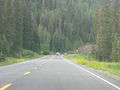 The drive to the race: Highway 65 makes a great road for a motorcycle, I imagine.