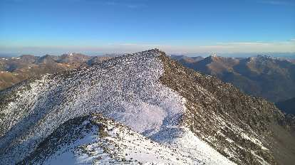 Torreys Peak (center) and the saddle between it and Grays.