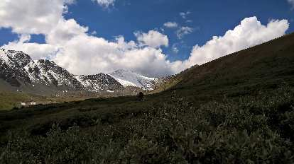 Grays Peak as seen a mile out from the winter trailhead.