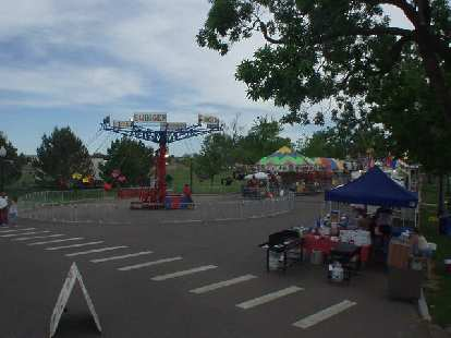 A carnival was going on simultaneously at the park.