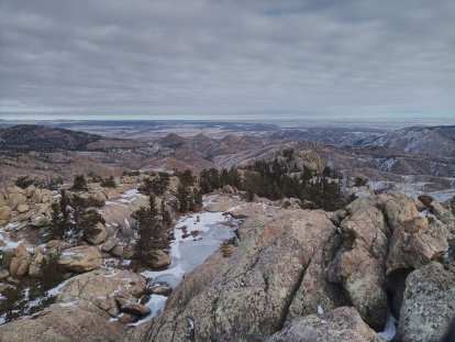 The view directly north of Greyrock as seen from the summit.