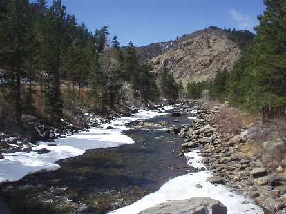 This is the Cache la Poudre River adjacent to Highway 14, about 9 miles from Fort Collins.