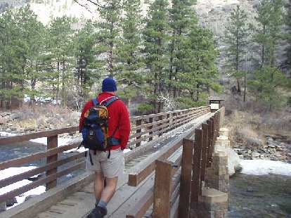 John commencing the hike up to Greyrock Mountain on this breezy day.