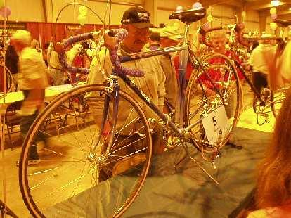 A vintage Cinelli 10-speed.