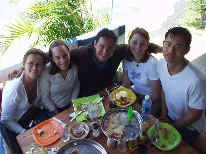Other friends from Habla Ya: Anna, Andrea,  and Luis.  That's Tori and I at the right.